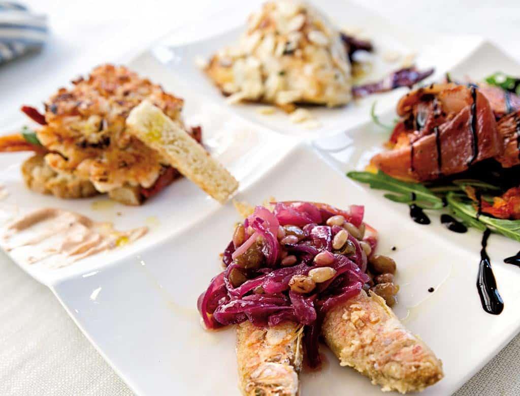 antipasto alla lele, menu di pesce, ristoranti pesce riccione, da lele riccione