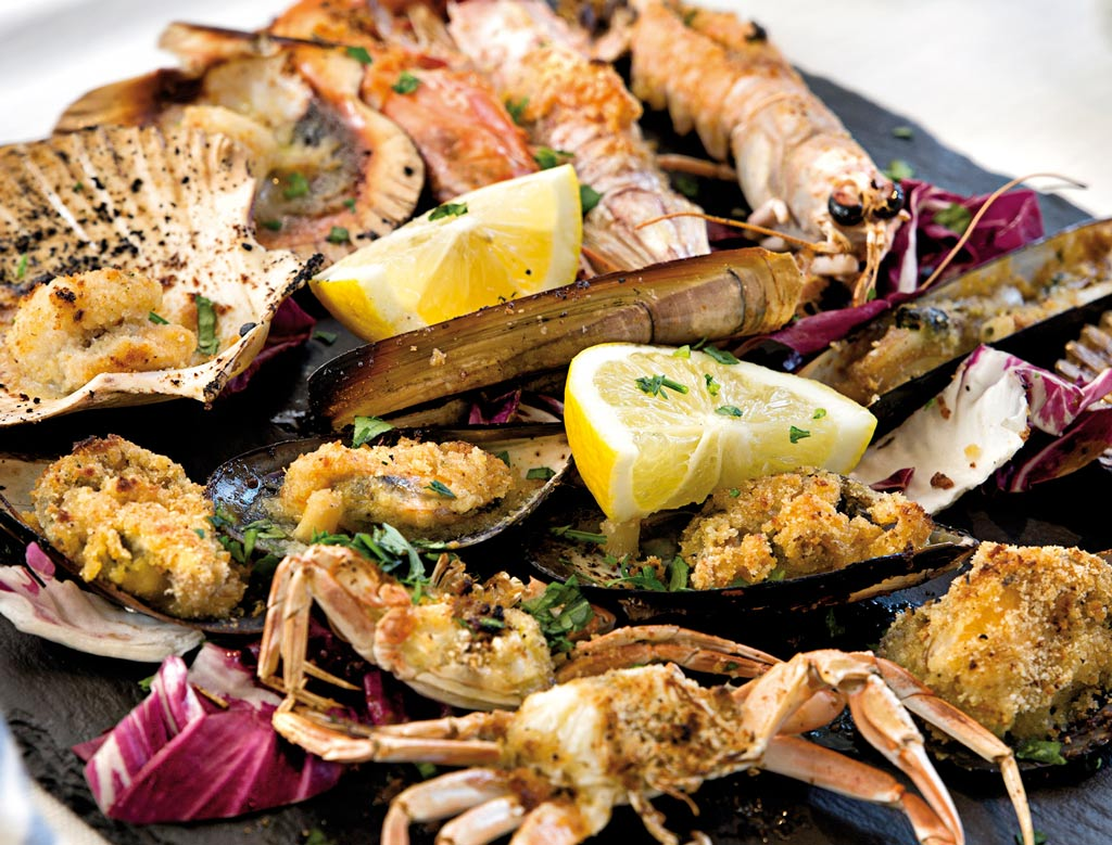 gratinato di pesce, piatti di pesce, menu di pesce, ristoranti pesce riccione, da lele riccione