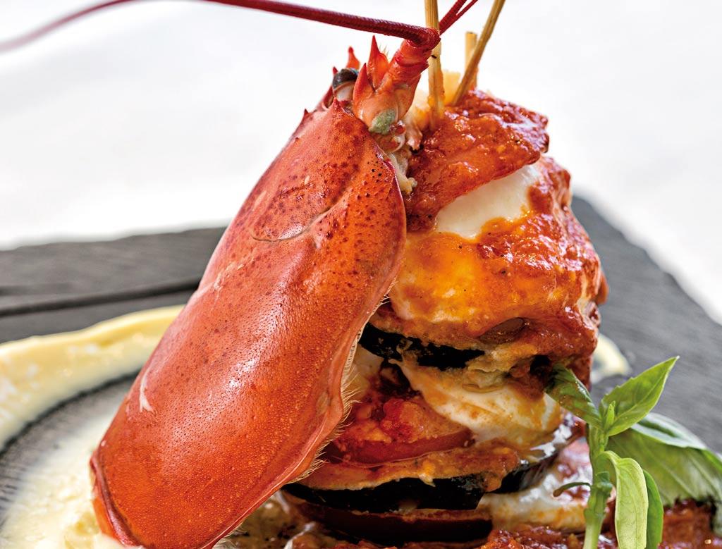 parmigiana d'astice, menu di pesce, ristoranti pesce riccione, da lele riccione