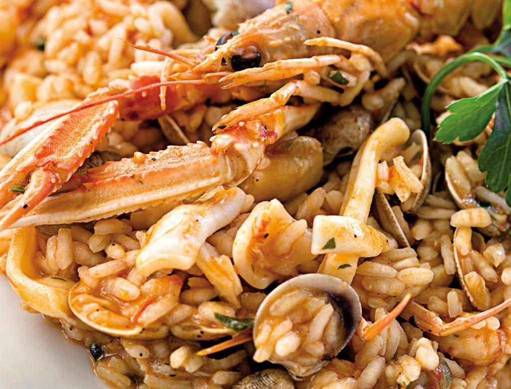 risotto ai frutti di mare, primi di pesce, menu di pesce, ristoranti pesce riccione, da lele riccione