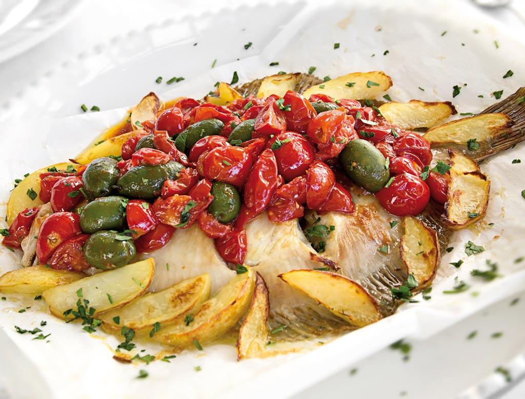rombo con patate, menu di pesce, ristoranti pesce riccione, da lele riccione