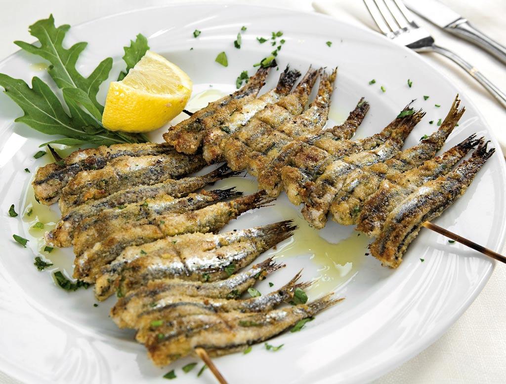 sardoncini, menu di pesce, ristoranti pesce riccione, da lele riccione