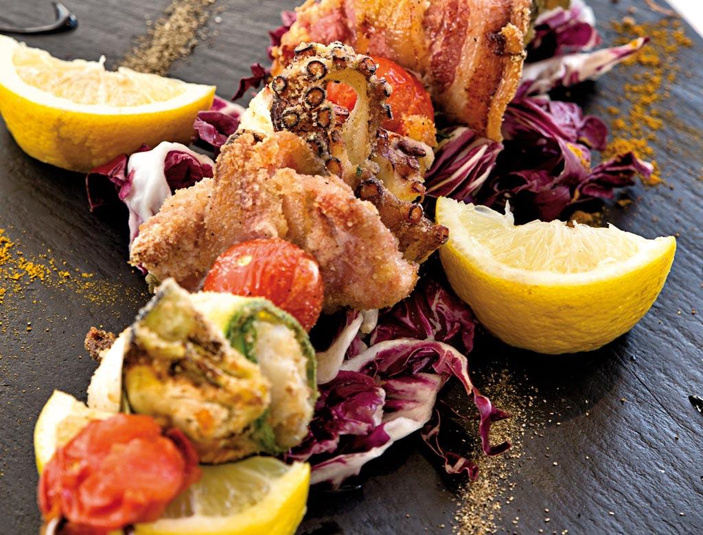 spiedone di pesce, menu di pesce, ristoranti pesce riccione, da lele riccione