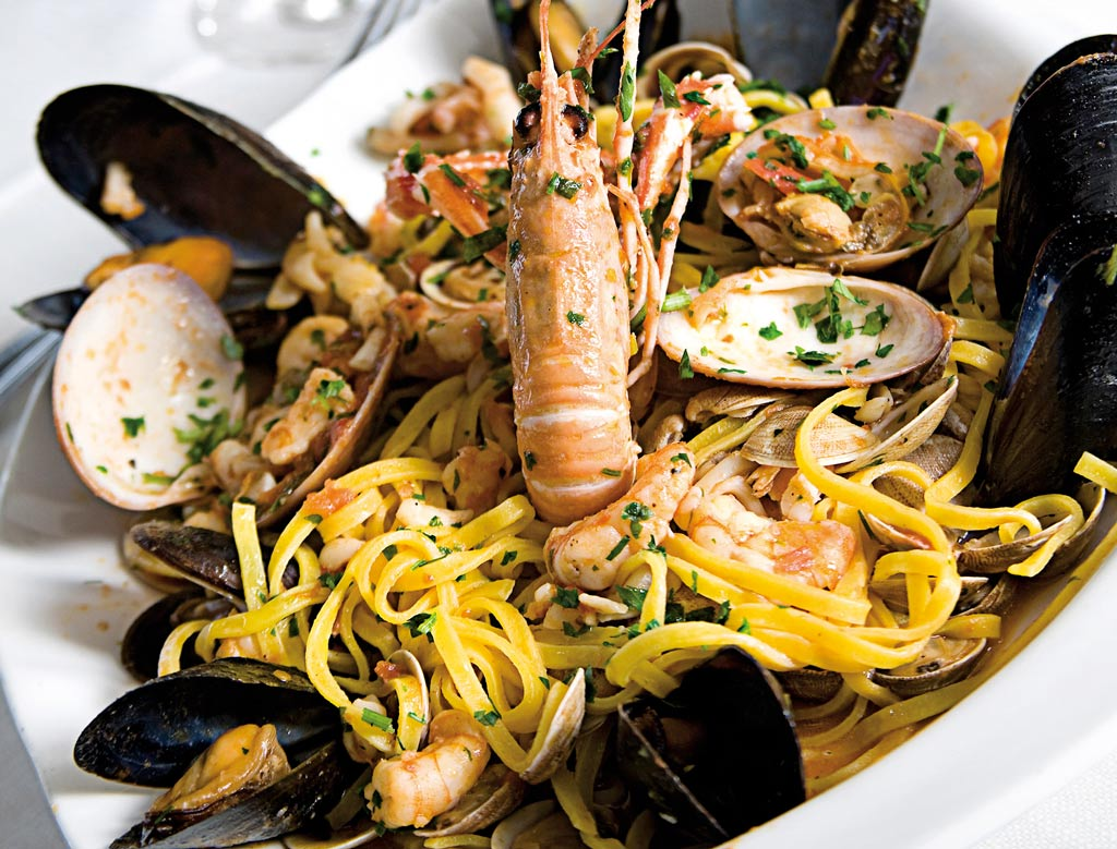 tagliolino allo scoglio, menu di pesce, ristoranti pesce riccione, da lele riccione