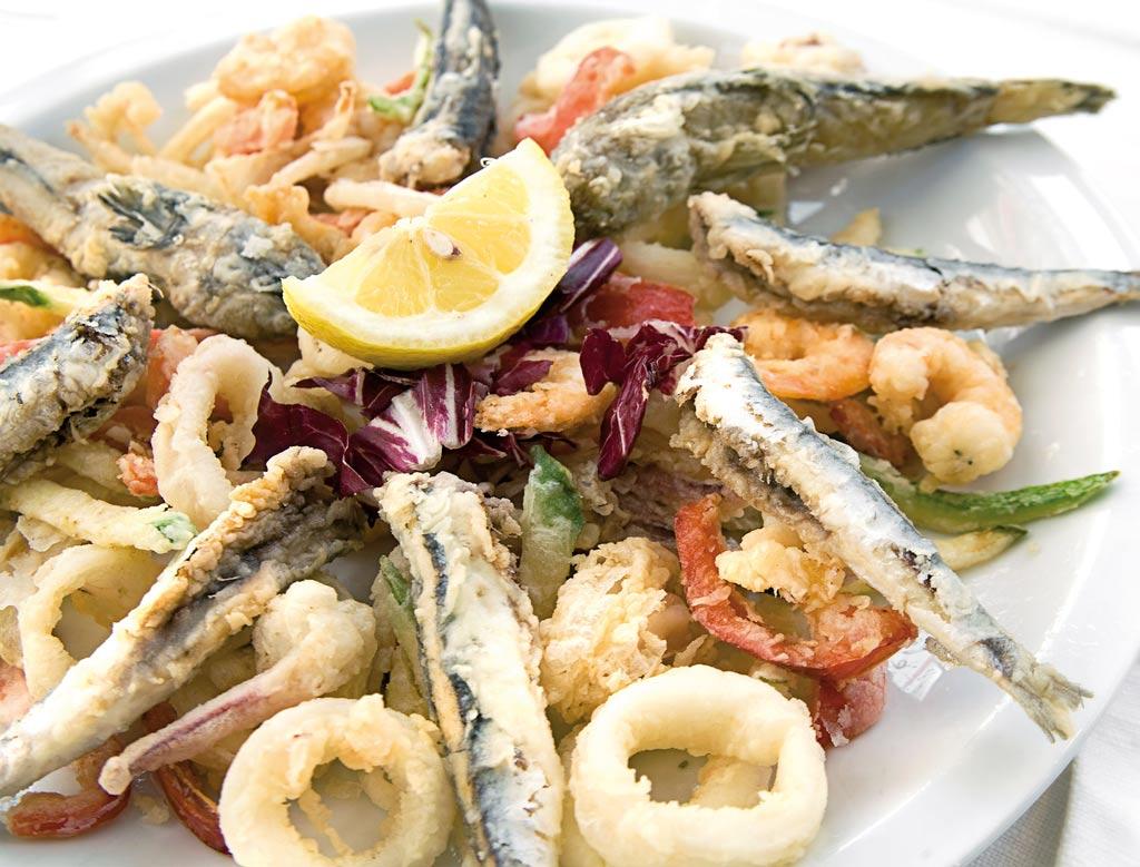 fritto misto, fritto di pesce, menu di pesce, ristoranti pesce riccione, da lele riccione
