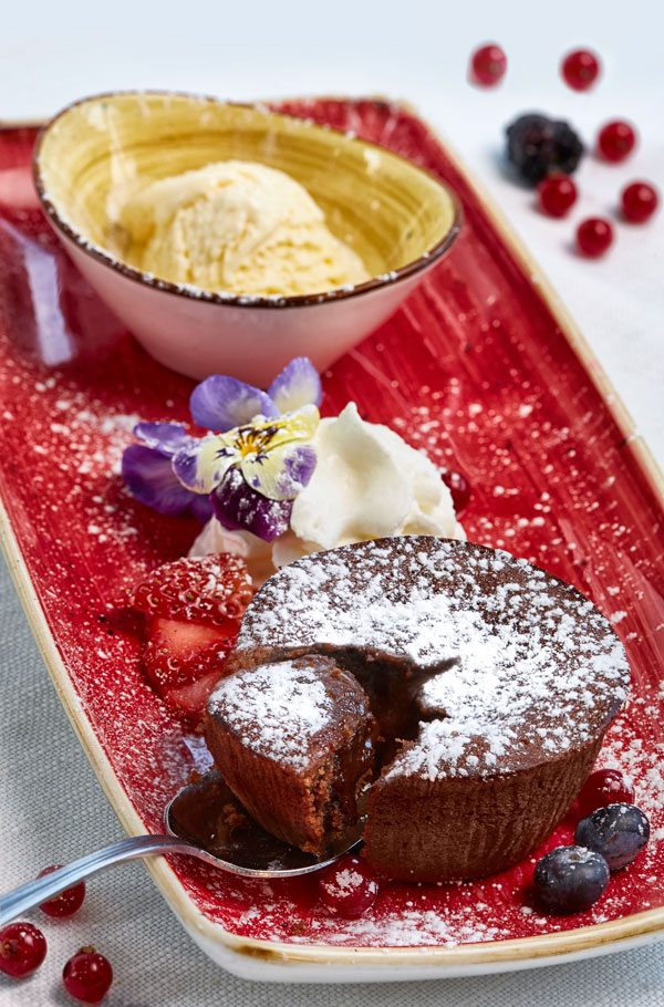 Tortino al cioccolato ristorante da lele riccione